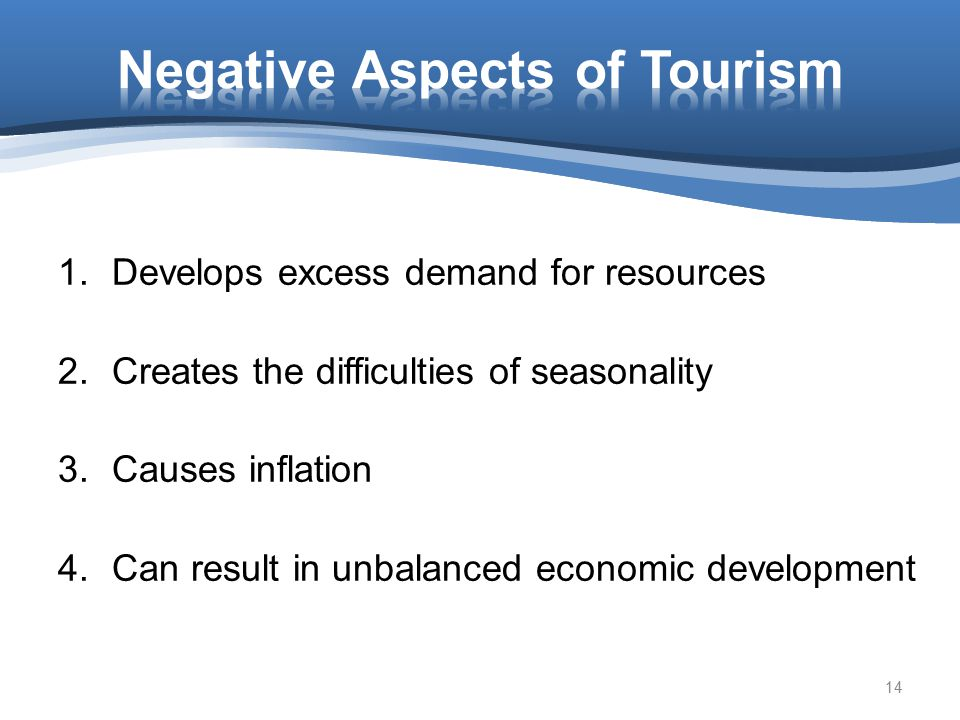 Negative Aspects of Tourism