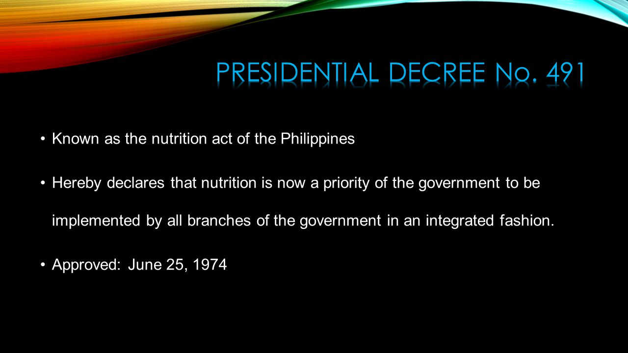presidential decree no 1006 What is presidential decree 907  about the presidential decree no1006 of sept 22 1976 under the phillippine constitution how does presidential decree .