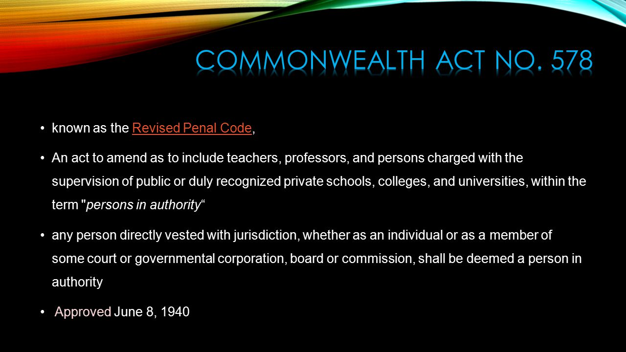 commonwealth act The commonwealth attorneys act the office of general counsel came into existence in 1981 following the pennsylvania legislatures passage of the commonwealth attorneys act in 1980.