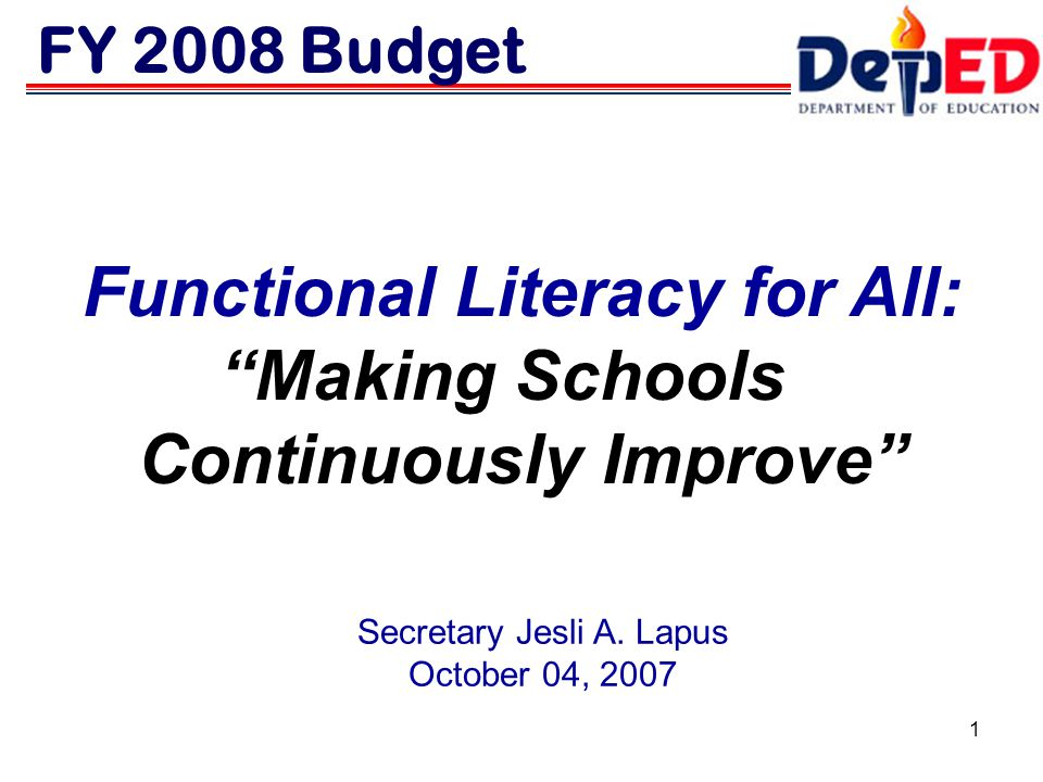 Functional Literacy for All: Continuously Improve