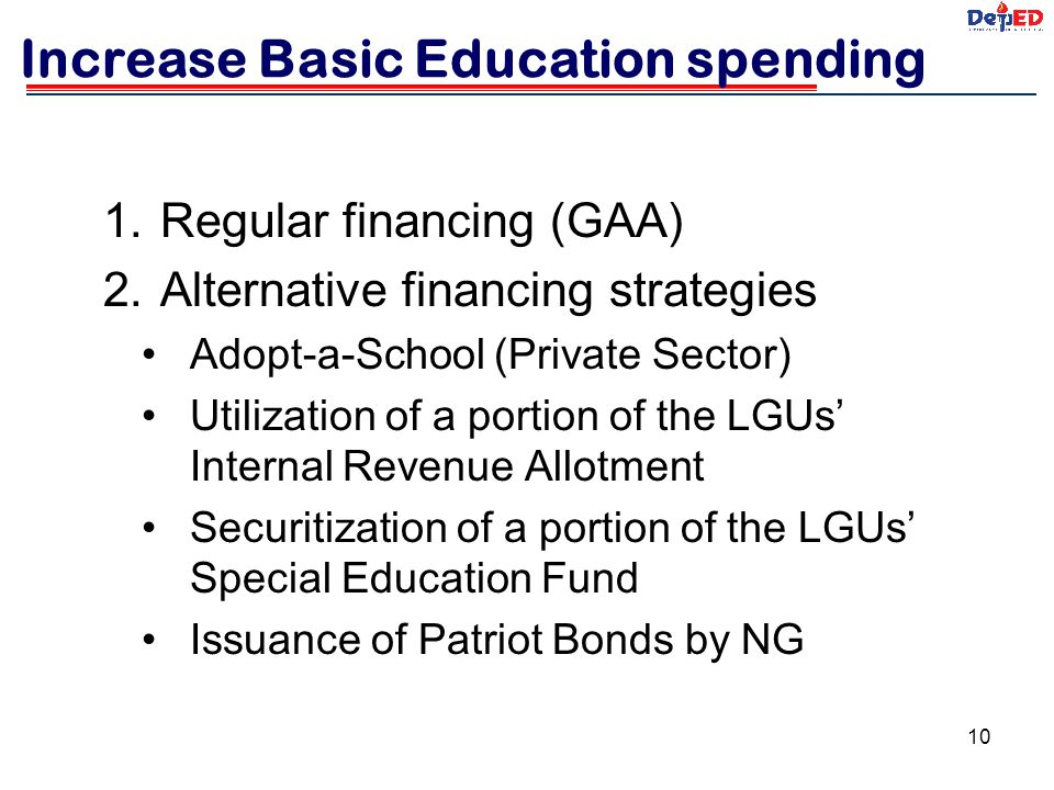 Increase Basic Education spending