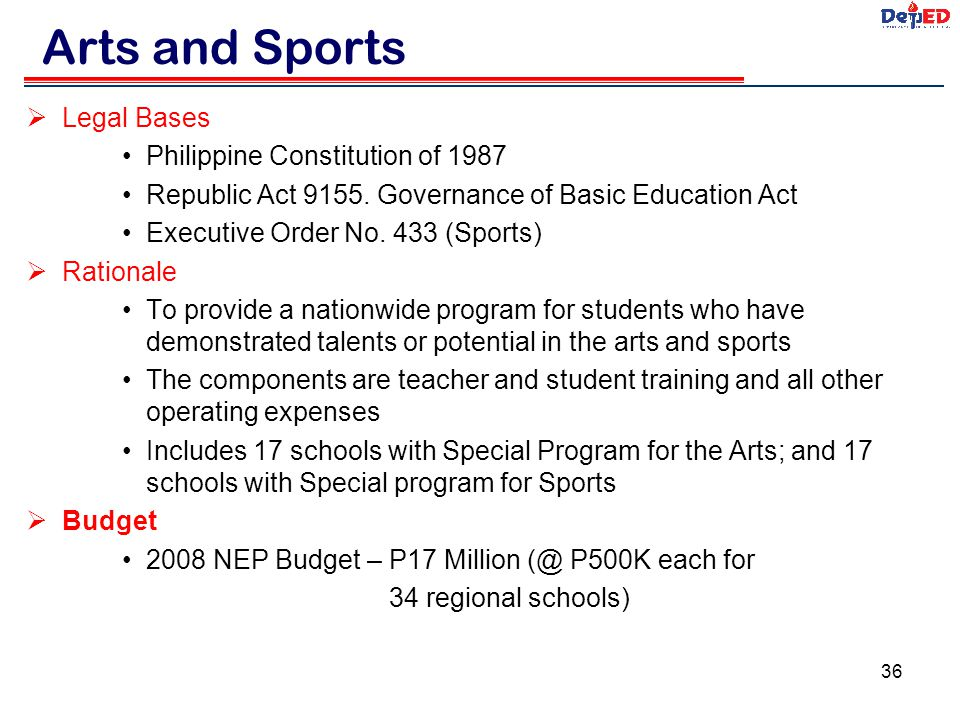 Arts and Sports Legal Bases Philippine Constitution of 1987