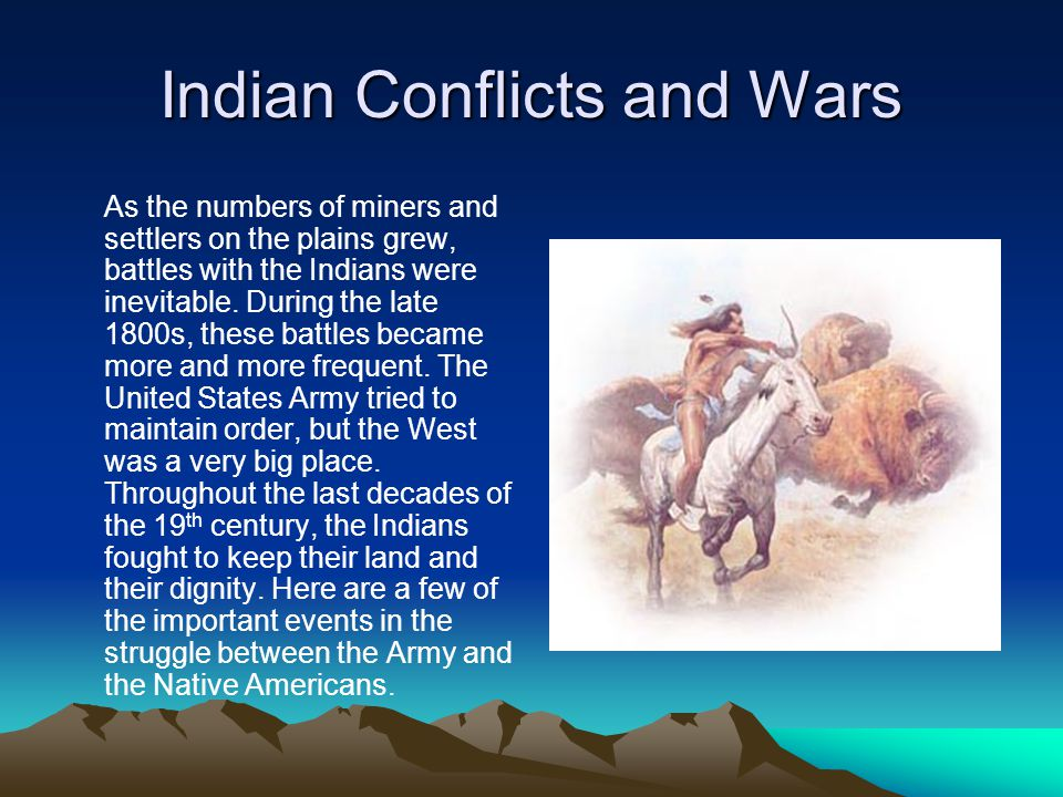 Indian Conflicts and Wars