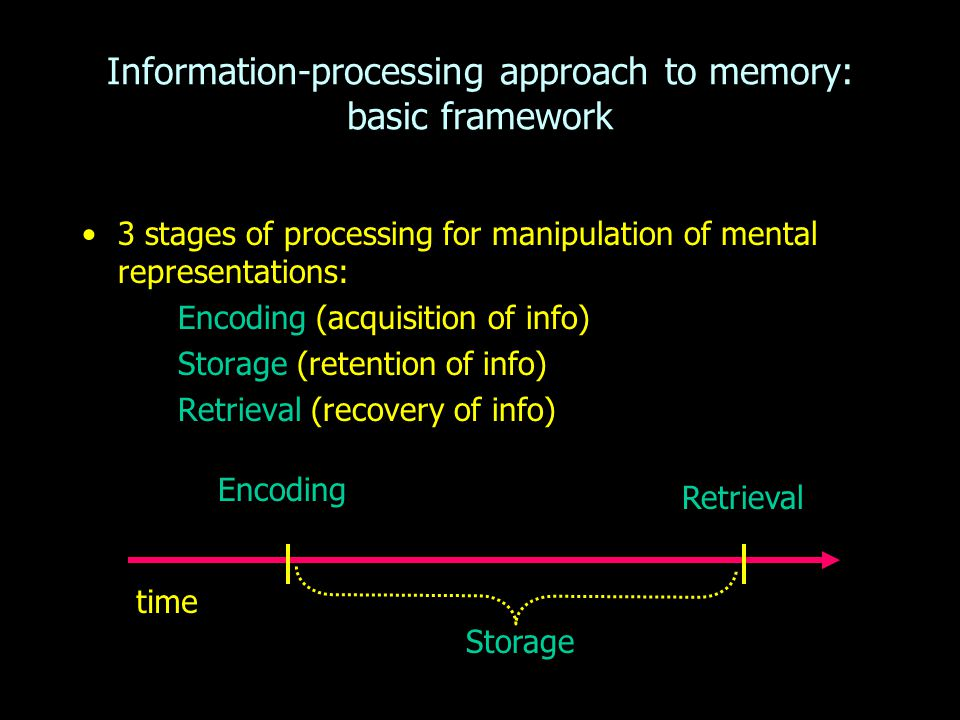 Information-processing approach to memory: basic framework