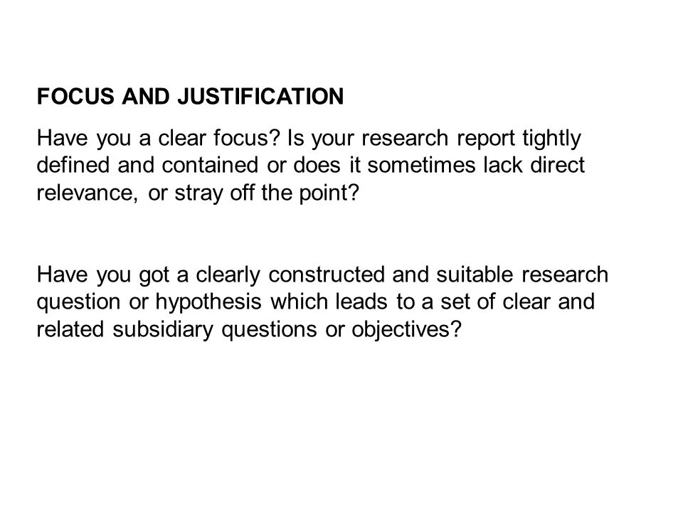 Research problem identification and justification