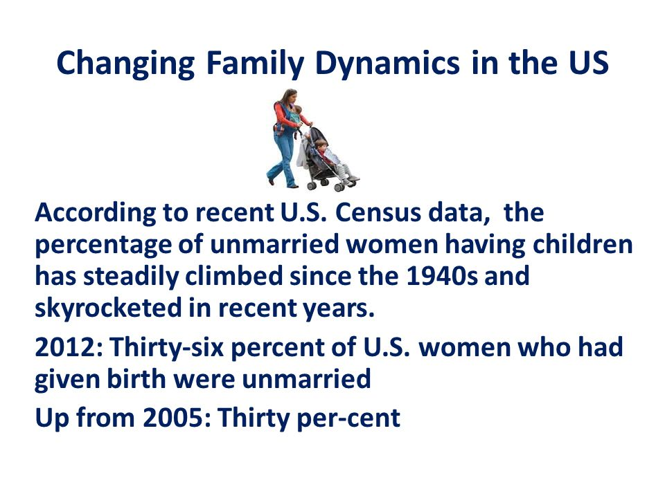 changing family dynamics Changing family dynamics families take on many forms and shapes, and yet they perform some of the same basic  presentation notes for understanding family dynamics.