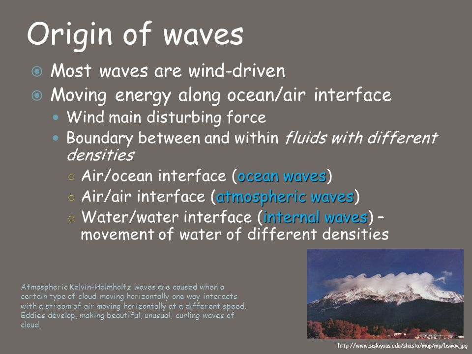 Chapter 8 waves and water dynamics ppt video online download origin of waves most waves are wind driven sciox Gallery