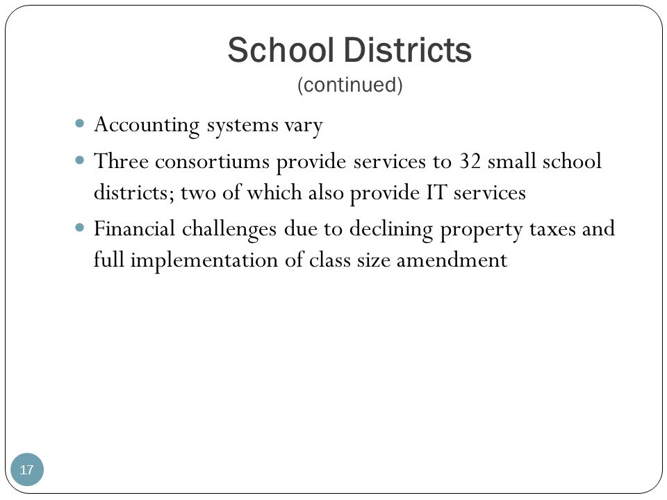 School Districts (continued)