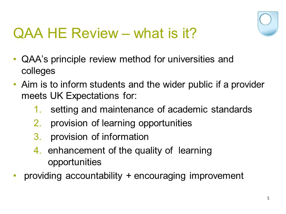 QAA HE Review – what is it