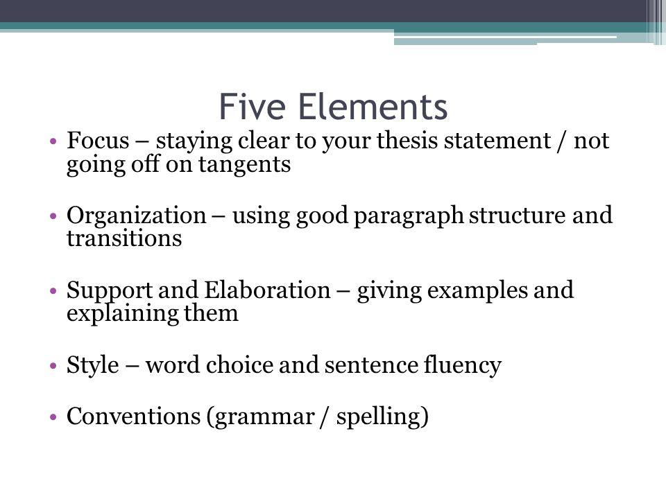 Elements Of Argumentative Essay Ppt