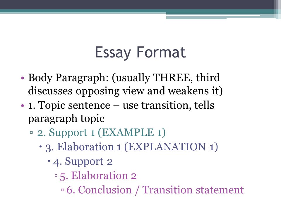 essay first body paragraph transitions