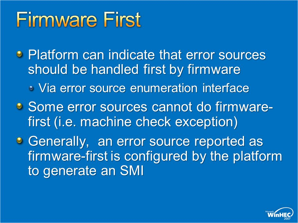the firmware encountered an exception the machine cannot boot