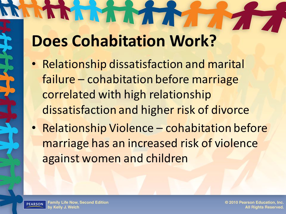an argument against cohabitation before marriage A response to the cohabitation epidemic while still others are actively rebelling against their parents or ethical upbringing all told, it is believed that between 50-70 percent of couples today are cohabiting before marriage.
