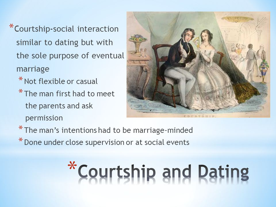 thesis courtship Courtship is a relationship between a man and a woman in which they seek to determine if it is god's will for them to marry how is courtship different than dating.