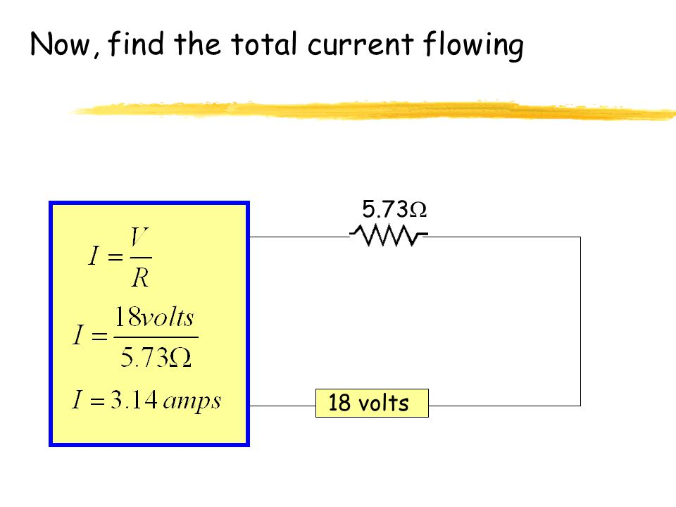Now, find the total current flowing