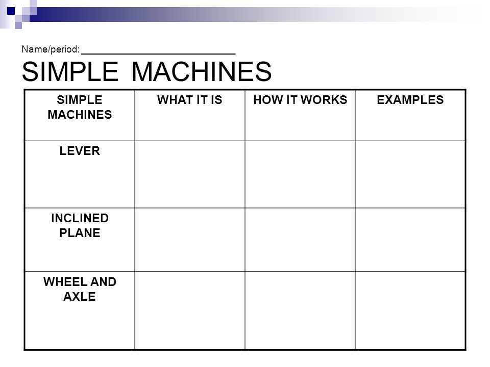 if a simple machine provides an increased