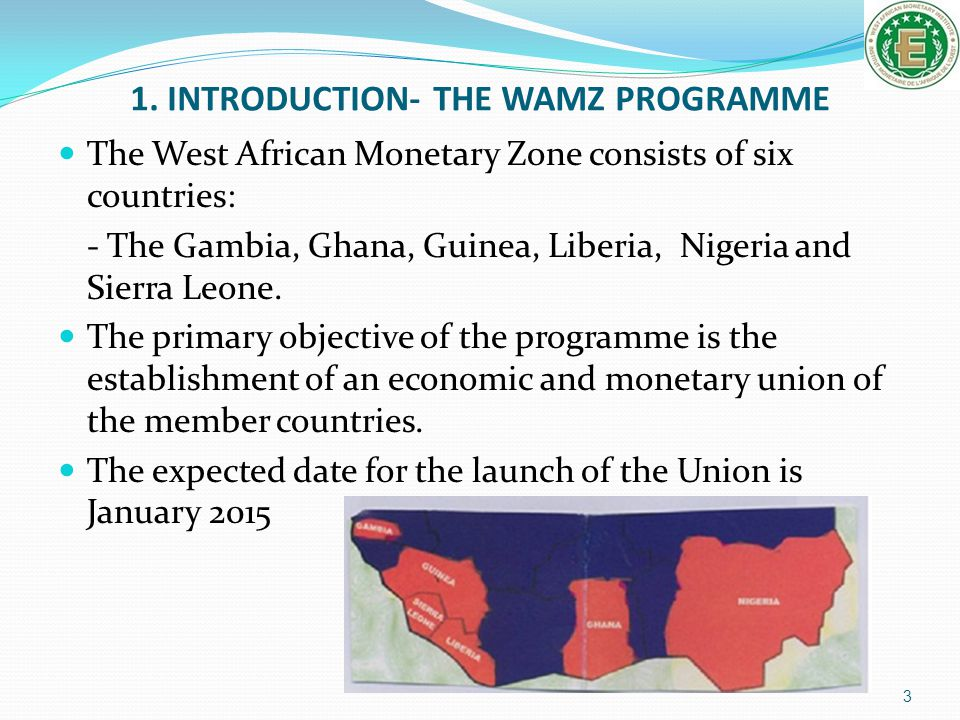 1. INTRODUCTION- THE WAMZ PROGRAMME