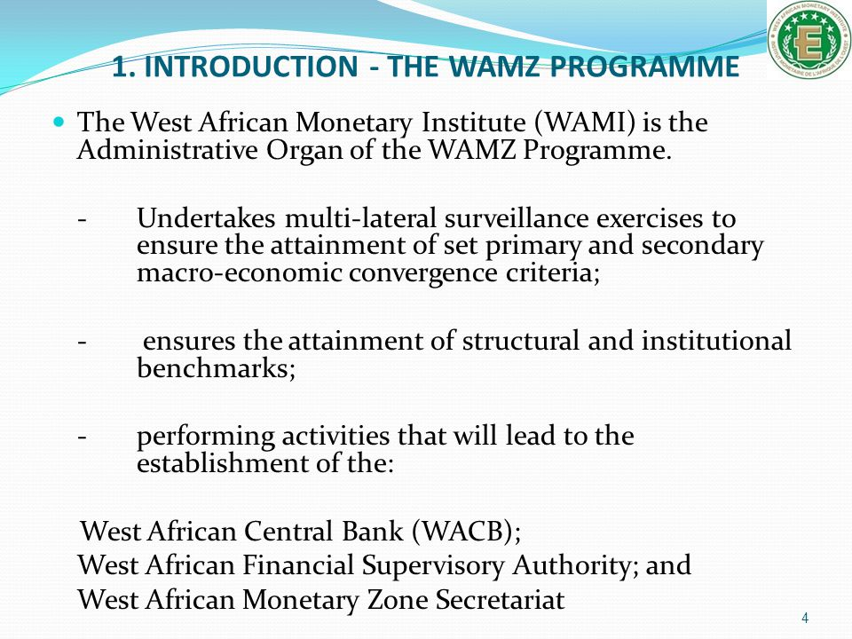 1. INTRODUCTION - THE WAMZ PROGRAMME