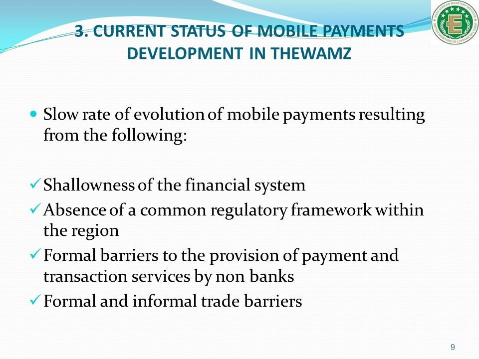 3. CURRENT STATUS OF MOBILE PAYMENTS DEVELOPMENT IN THEWAMZ