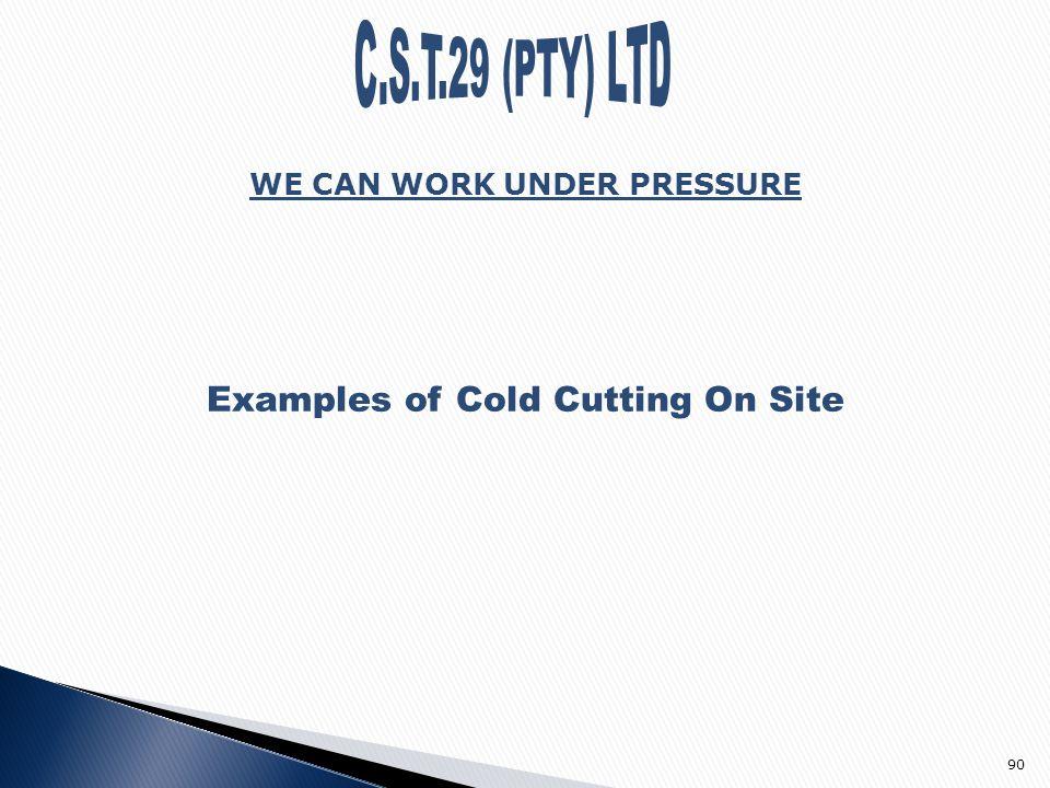 working under pressure examples