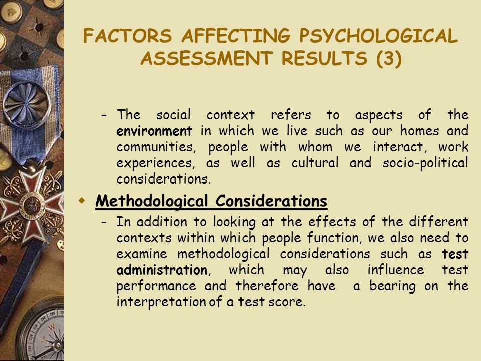 psychological assessment in a multi cultural context In a special issue on assessment in the context of culture and pedagogy, the author discusses how a model of cultural nesting model based on multicultural variables should be used to examine achievement test results.