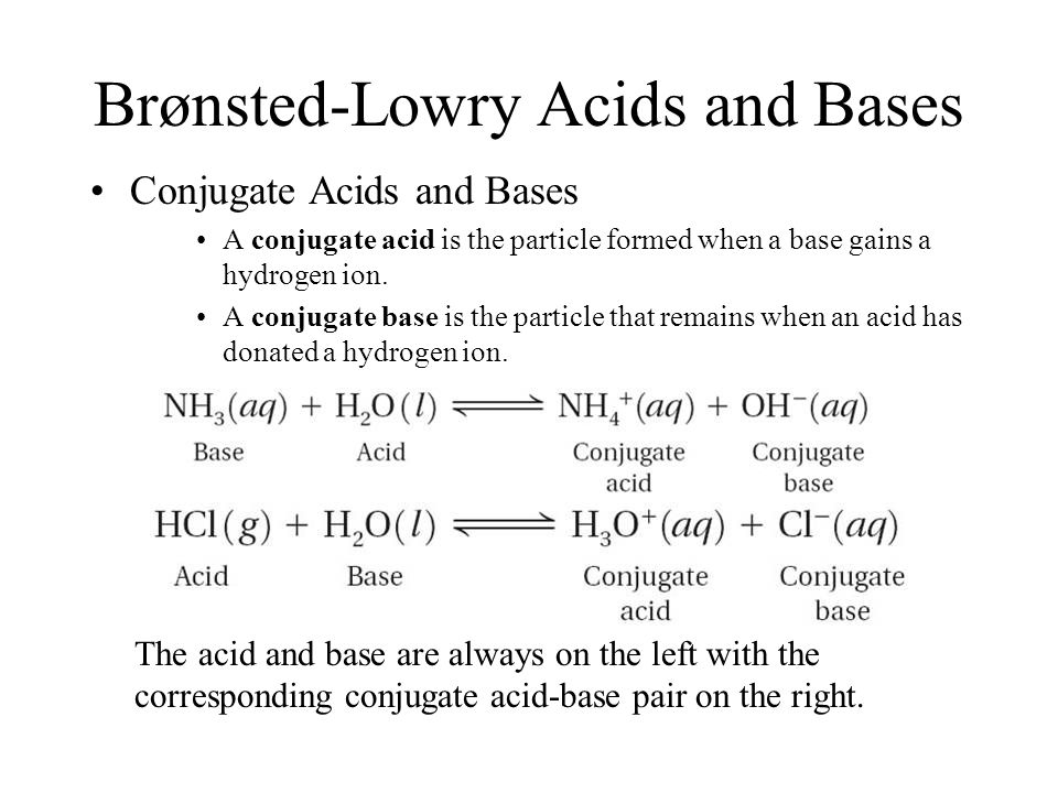 Brønsted-Lowry Acids and Bases