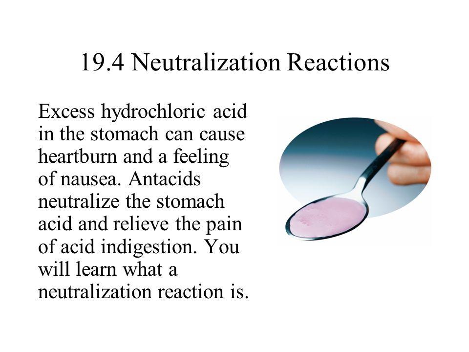 19.4 Neutralization Reactions