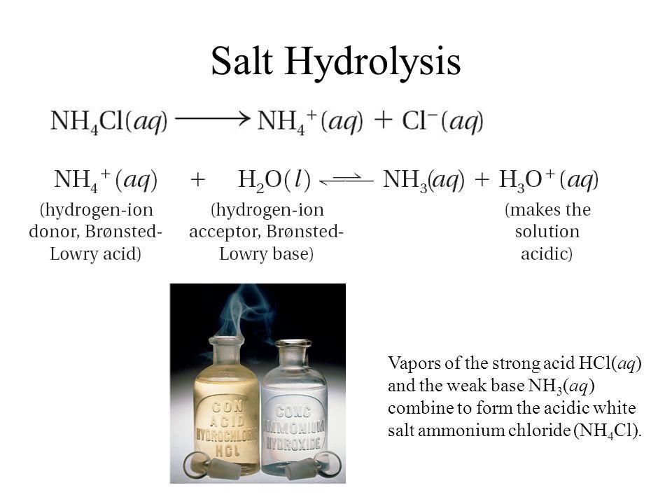 19.5 Salt Hydrolysis.