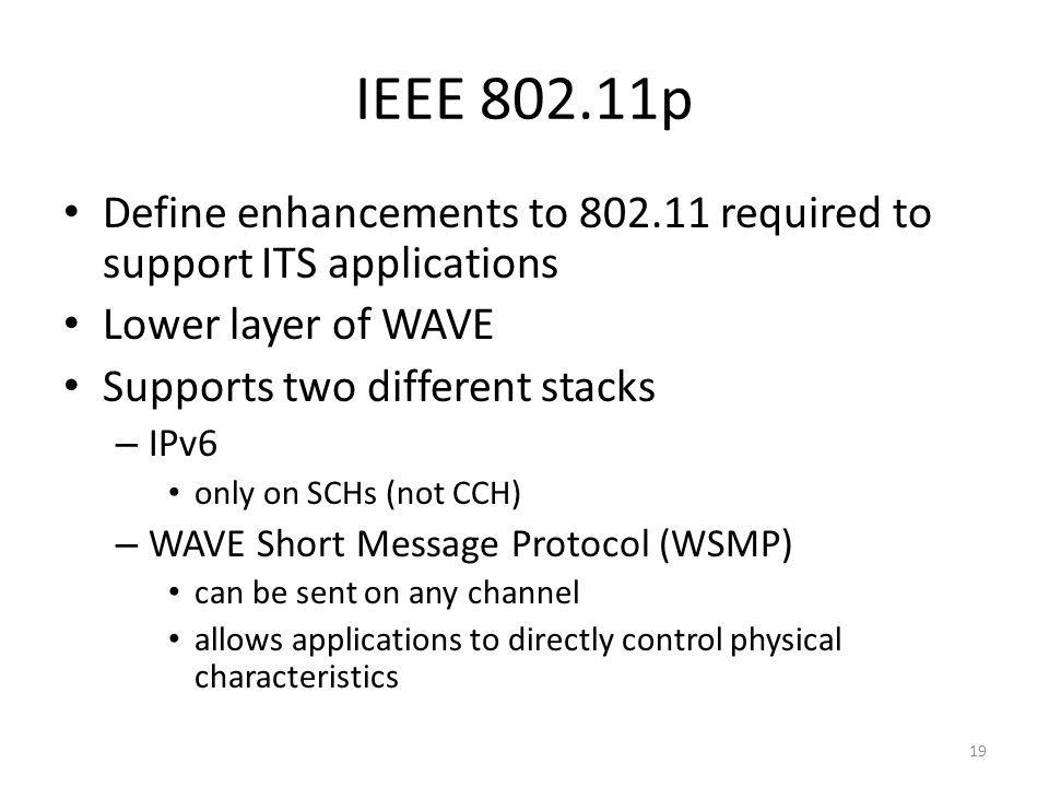 Dsrc wave ppt video online download for Ieee definition