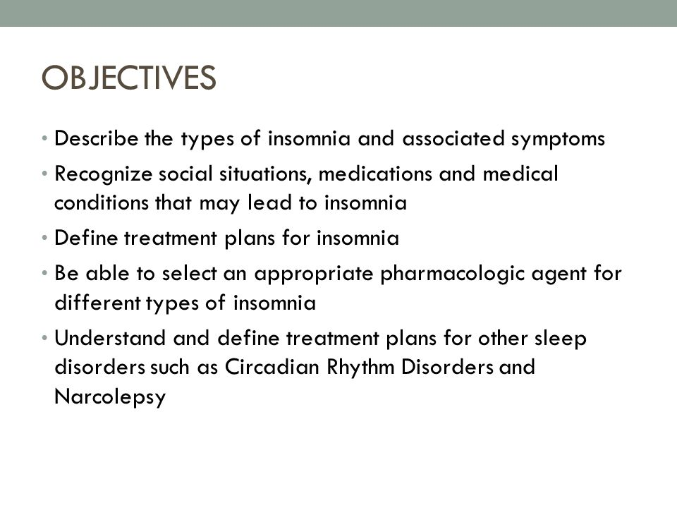 The Various Types Of Sleep Disorders