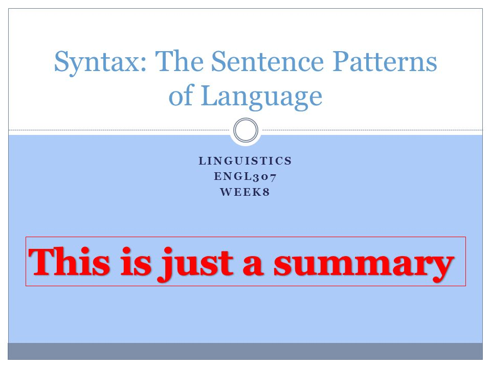 syntax the sentence patterns of language ppt video online download. Black Bedroom Furniture Sets. Home Design Ideas