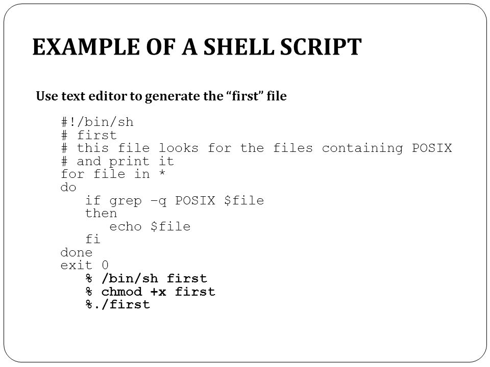 How to Create a First Shell Script