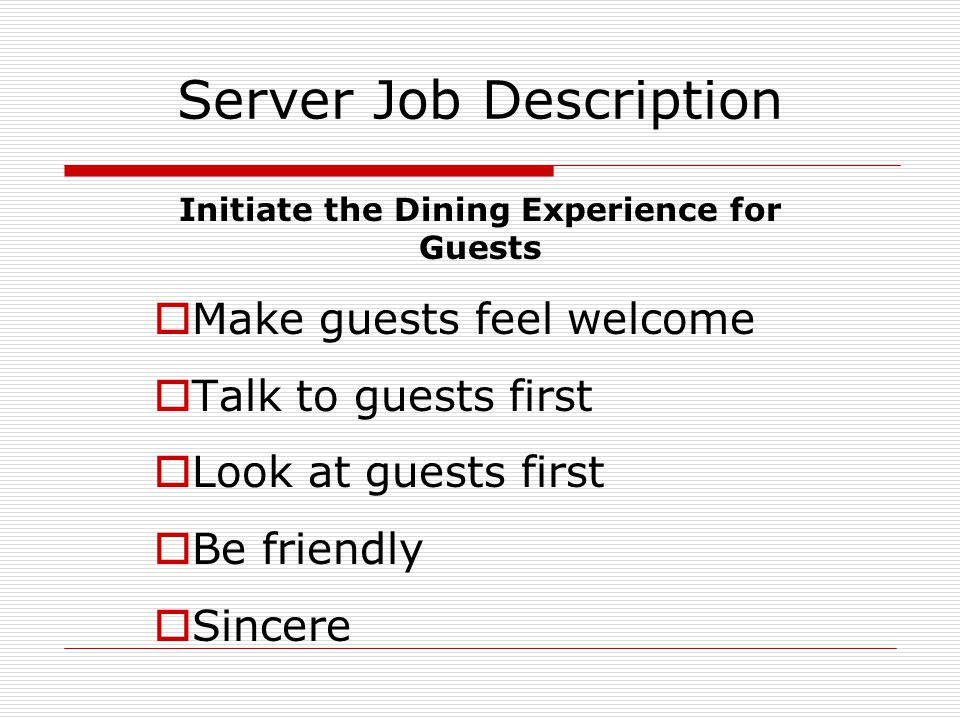 Service & Hospitality Service Is The Act Of Filling Needs, Wants