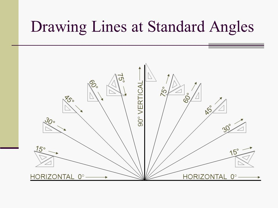 Drawing With Horizontal Lines : Demonstrate correct drawing procedures ppt video online