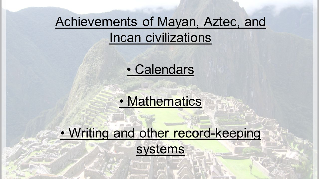 incan and aztec The indigenous peoples of mexico and south america held intricate belief systems involving the worship of hundreds of deities the aztec people of 15th century mexico worshiped a suite of.