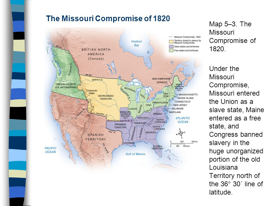 African Americans in the New Nation ppt download – Missouri Compromise Worksheet