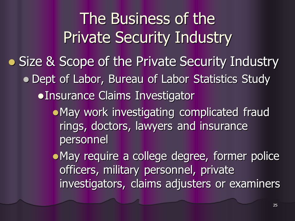 chapter two the business of the private security industry ppt video online download. Black Bedroom Furniture Sets. Home Design Ideas