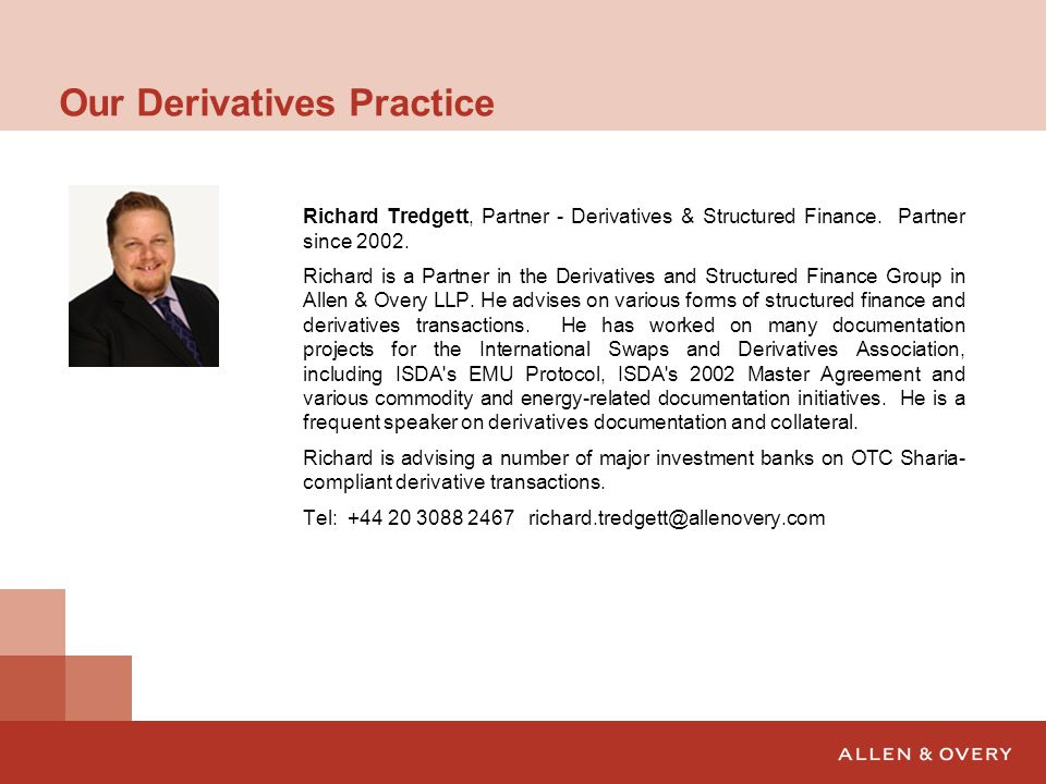 Allen Amp Overy Islamic Derivatives Seminar Ppt Download