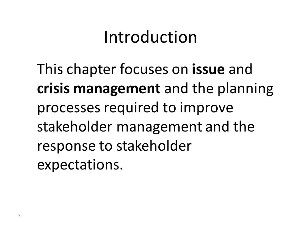 risk issue and crisis management Issue management and crisis management: an integrated,  unaddressed trend towards increasing seriousness and greater risk and that the longer an issue survives .