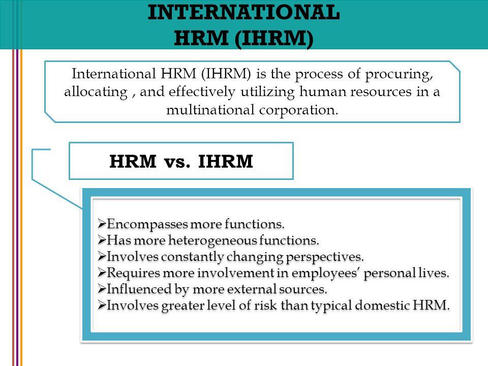 international human resource management more than