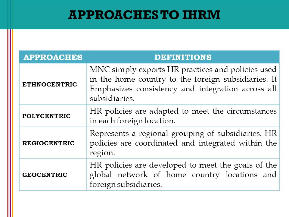 ethnocentric approach example