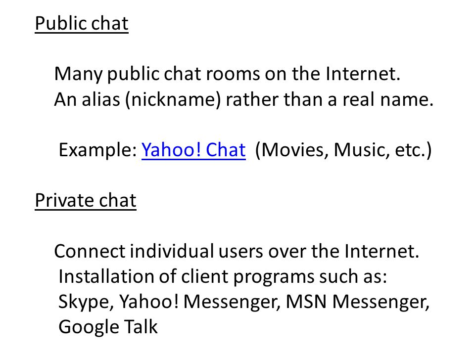 How To Connect Yahoo Messenger Chat Rooms