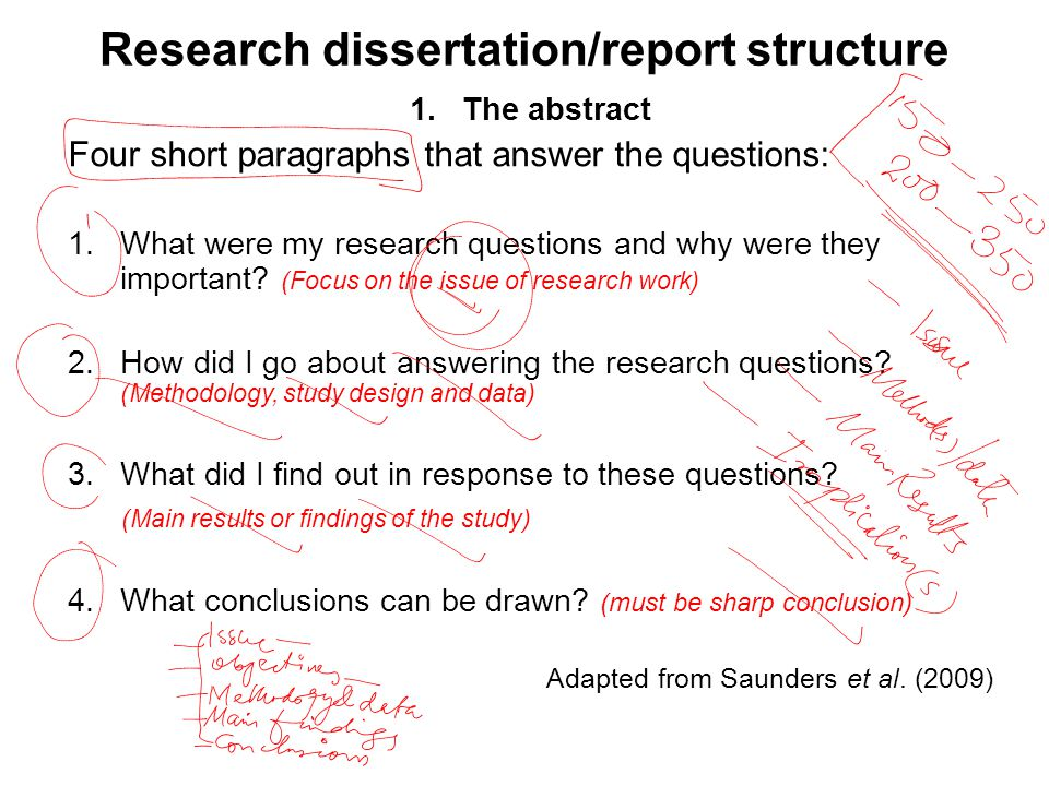 reporting research results dissertation Components of results section results should answer main hypothesis or  research question(s) order of presenting results is arbitrary may be done in  table 1.