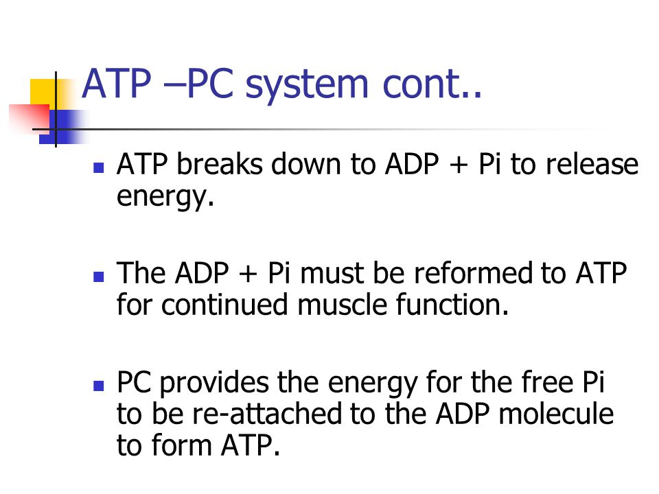prerequisite for the continued resynthesis of atp