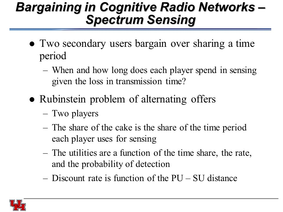 game theory cognitive radio thesis Cognitive networks capt ryan w thomas abstract for complex computer networks with many tunable parameters and network performance objectives, the task of selecting.