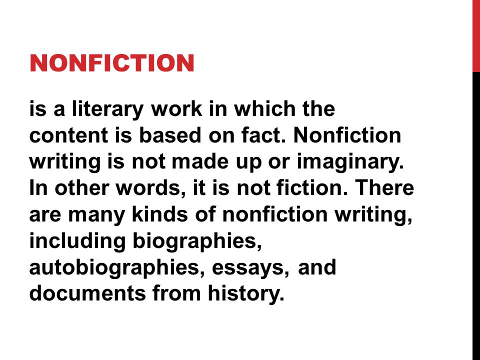 Literary Genres Nonfiction Ppt Video Online Download