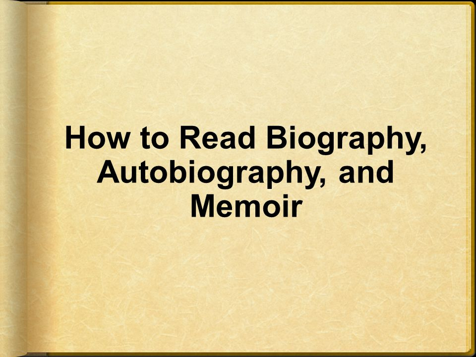 difference between biography and autobiography pdf