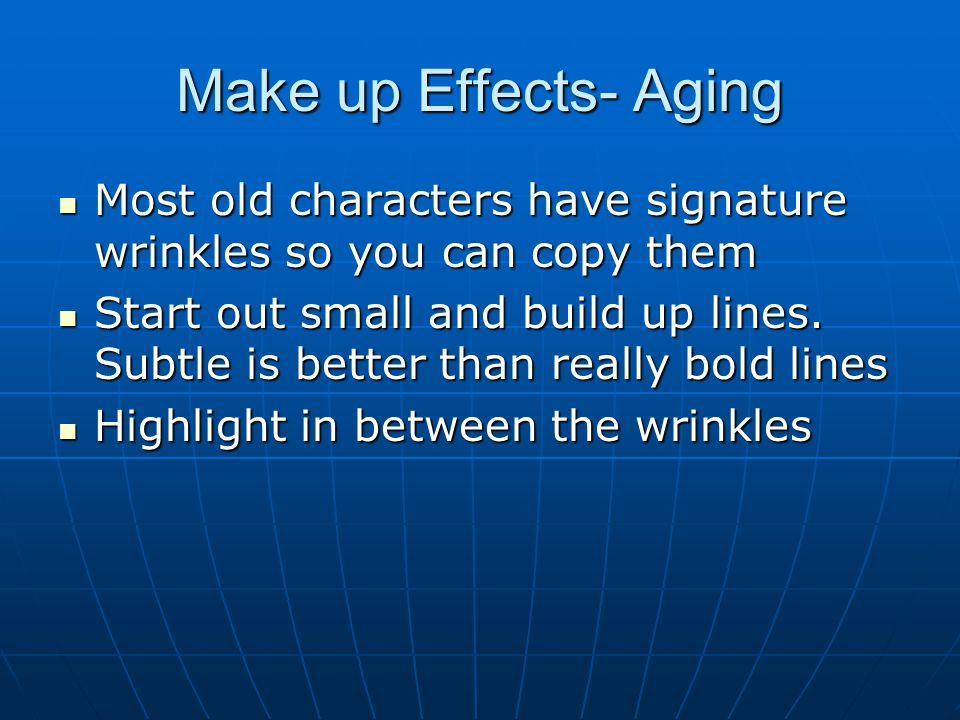 how to make it look like you have wrinkles