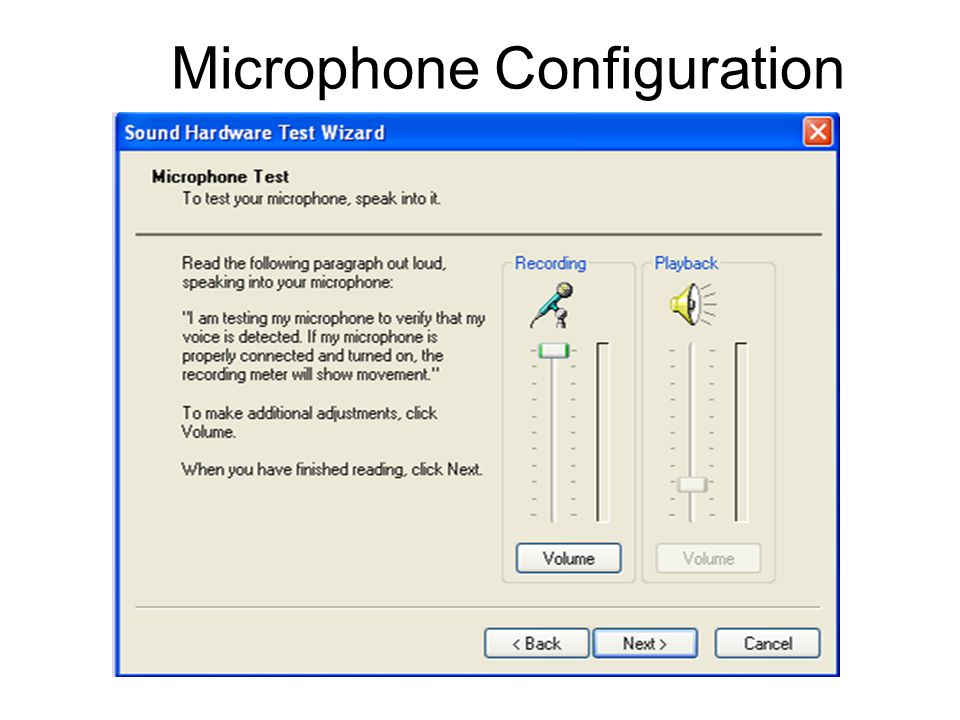 Microphone Configuration