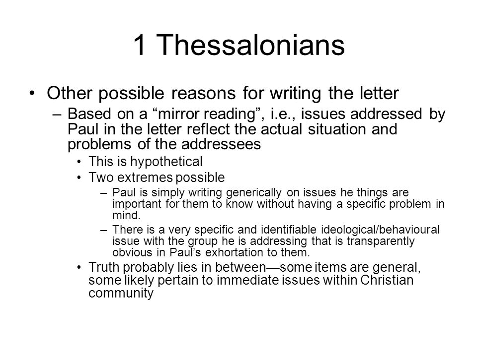 The apocalyptic paul revealed ppt video online download 1 thessalonians other possible reasons for writing the letter ccuart Gallery
